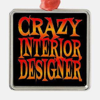 Crazy Interior Designer in Bright Colors Metal Ornament