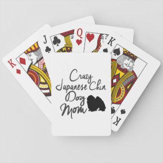 Crazy Japanese Chin Dog Mom Poker Deck