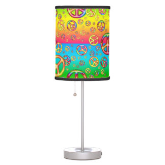 Crazy Kids Colors-PEACE OUT-Table Lamp