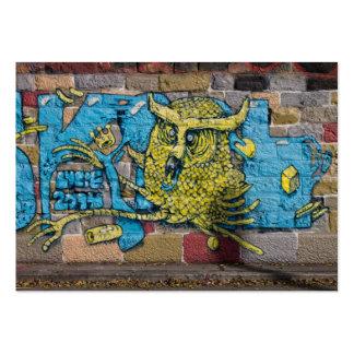 Crazy Kind Of Fantasy Horned Owl Graffiti Large Business Card