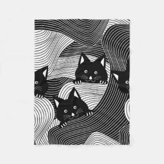 Crazy Kitties Fleece Blanket