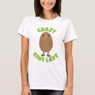 crazy kiwi lady circle T-Shirt