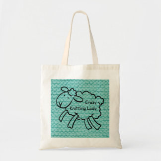 Crazy Knitting Lady Bag