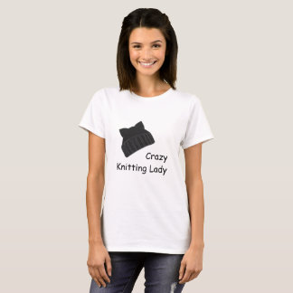 Crazy Knitting Lady T-Shirt