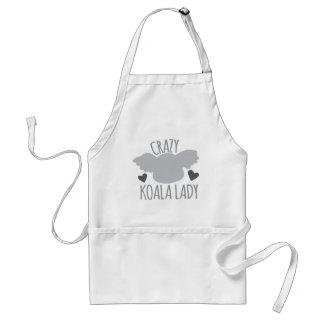 Crazy Koala Lady Standard Apron