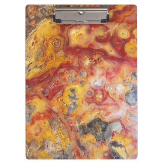 Crazy Lace Agate Pattern Clipboard
