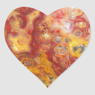 Crazy Lace Agate Pattern Heart Sticker