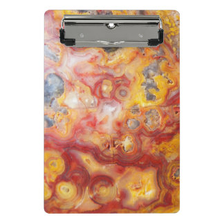 Crazy Lace Agate Pattern Mini Clipboard