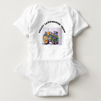 crazy_lawnmower_crew baby bodysuit