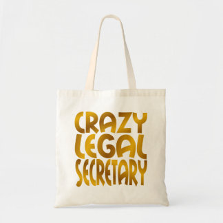 Crazy Legal Secretary in Gold Tote Bag