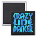 Crazy Line Dancer Fridge Magnet