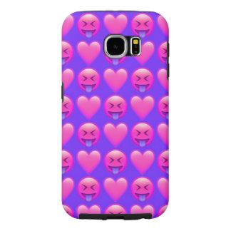 Crazy Love Emoji Samsung Galaxy S6 Phone Case