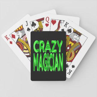 Crazy Magician in Green Poker Deck
