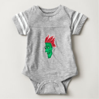 Crazy Man Drawing Baby Bodysuit