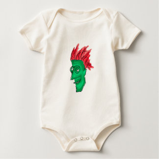 Crazy Man Drawing Baby Bodysuit
