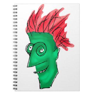 Crazy Man Drawing Spiral Notebook