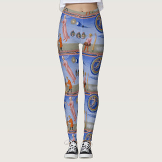 Crazy medieval science Dante Inferno Leggings
