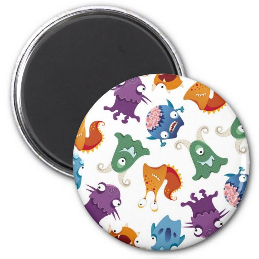 Crazy Monsters Fun Colorful Patterns for Kids Magnet