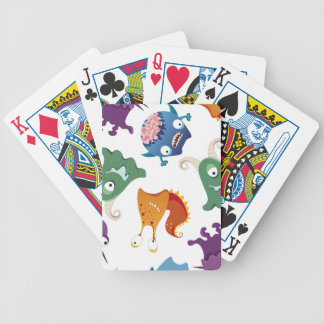 Crazy Monsters Fun Colorful Patterns for Kids Poker Deck