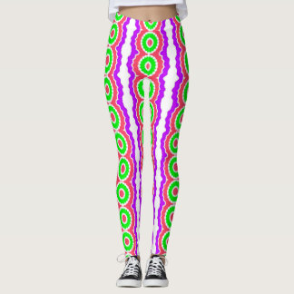 Crazy Neon Striped Leggings