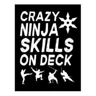 Crazy Ninja Skills on Deck Postcard