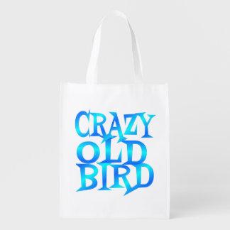 Crazy Old Bird Reusable Grocery Bag