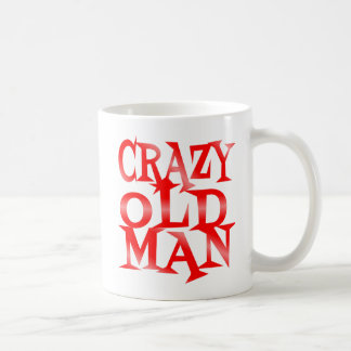 Crazy Old Man in Red Classic White Coffee Mug