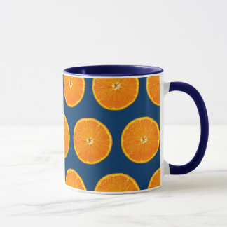 Crazy on Clementines - Blue Mug