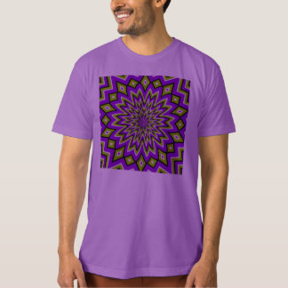 Crazy Optical Illusion - Flowery Green and Purple T-Shirt