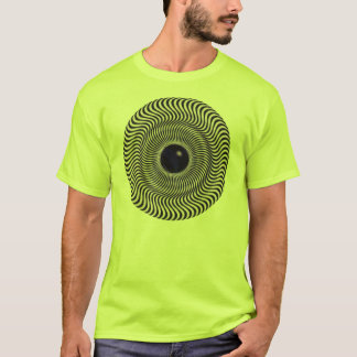 Crazy Optical Illusion - Holographic Circle T-Shirt