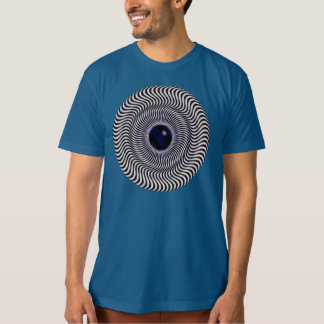 Crazy Optical Illusion - Holographic Circle T Shirts
