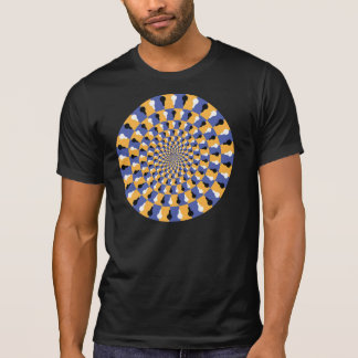 Crazy Optical Illusion - Infinite Circle Tee Shirt