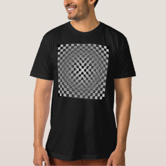Crazy Optical Illusion - Morphing Metal Square T-shirts