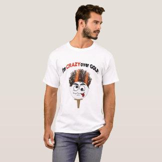 Crazy Over Golf Funny T-Shirt (Golf ball face)