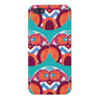 Crazy Owl Colorful Chevron Purple Orange Pink Blue Case For The iPhone 5