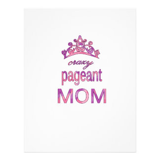 Crazy pageant mom customized letterhead