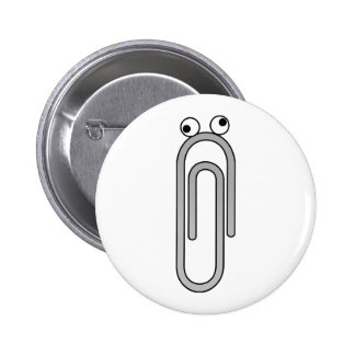 Crazy Paperclip 2 Inch Round Button
