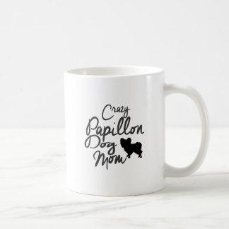 Crazy Papillon Dog Mom Coffee Mug