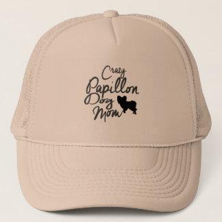 Crazy Papillon Dog Mom Trucker Hat