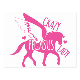 Crazy Pegasus Lady Postcard