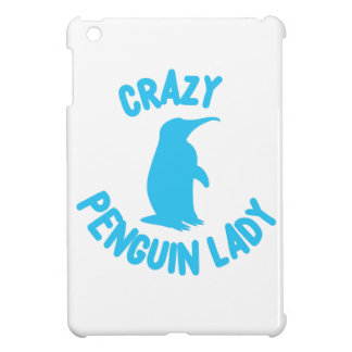 crazy penguin lady iPad mini covers