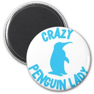 crazy penguin lady magnet