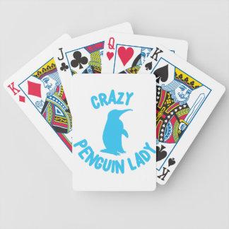 crazy penguin lady poker deck