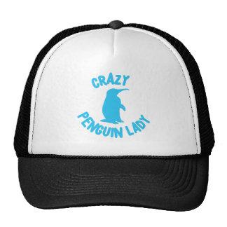 crazy penguin lady trucker hat