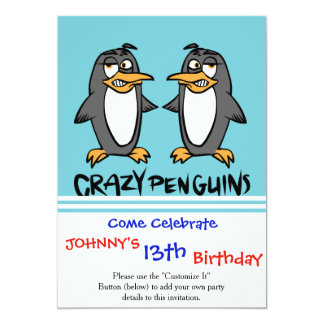Crazy penguins card