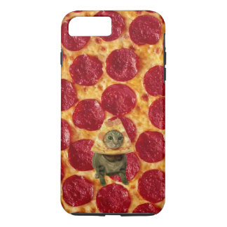 Crazy Pepperoni Pizza and Pizza Cat iPhone 7 Plus Case