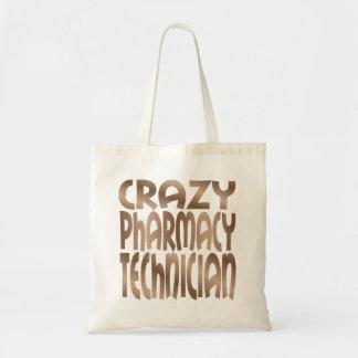 Crazy Pharmacy Technician in Silver Tote Bag