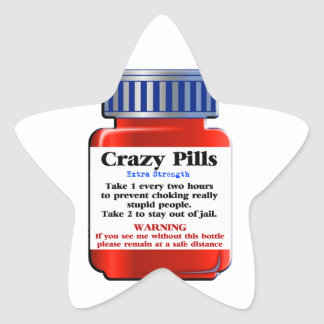 Crazy Pills_ Star Sticker