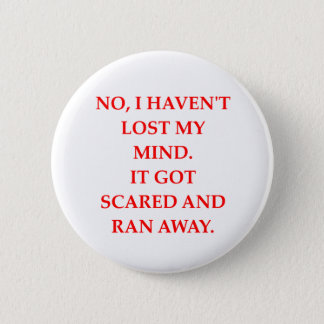 CRAZY.png 2 Inch Round Button