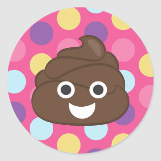 Crazy Polka Dot Poo Emoji Stickers